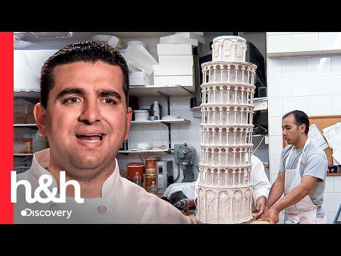 Buddy replica la Torre de Pisa en asombroso pastel inclinado | Cake Boss | Discovery H&H
