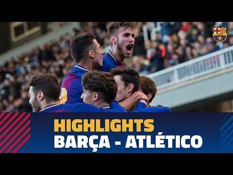 Барселона U19 - Атлетико U19 2:0. Видеообзор матча 13.03.2018. Видео голов и опасных моментов игры