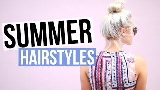 5 Easy & Cute Summer Hairstyles! | Aspyn Ovard - YouTube