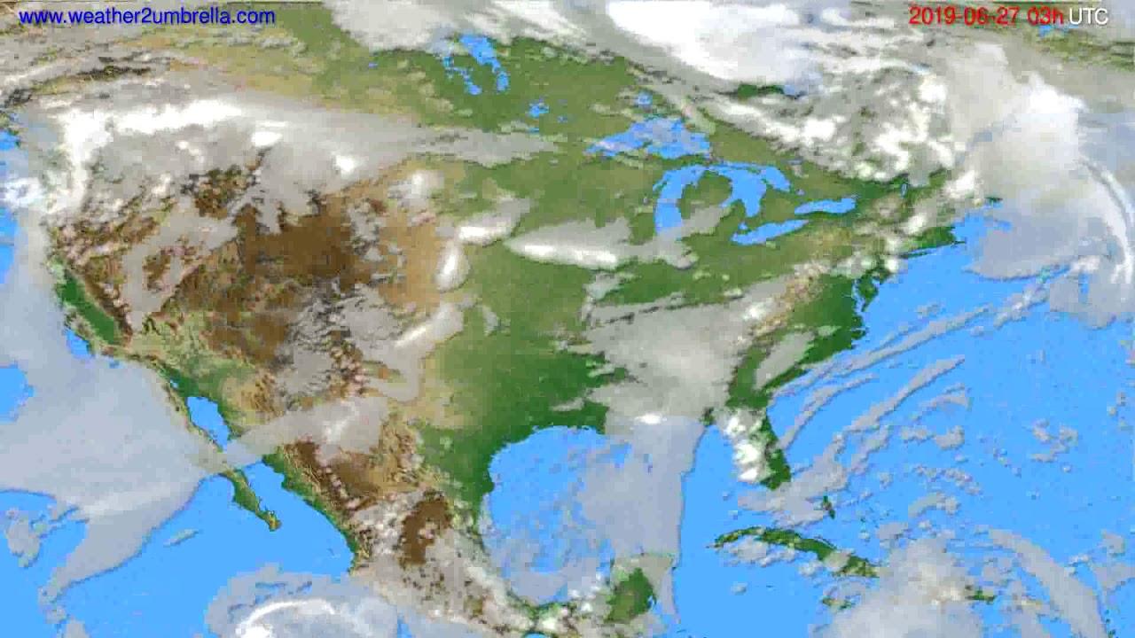Cloud forecast USA & Canada // modelrun: 00h UTC 2019-06-24