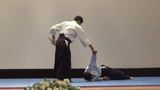 Показательные выступления сенсея Юджи Хорикоси (6-й дан айкидо Айкикай)