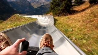 Kandersteg Switzerland  city pictures gallery : Rodelbahn Oeschinensee (Kandersteg) - Bobsled POV