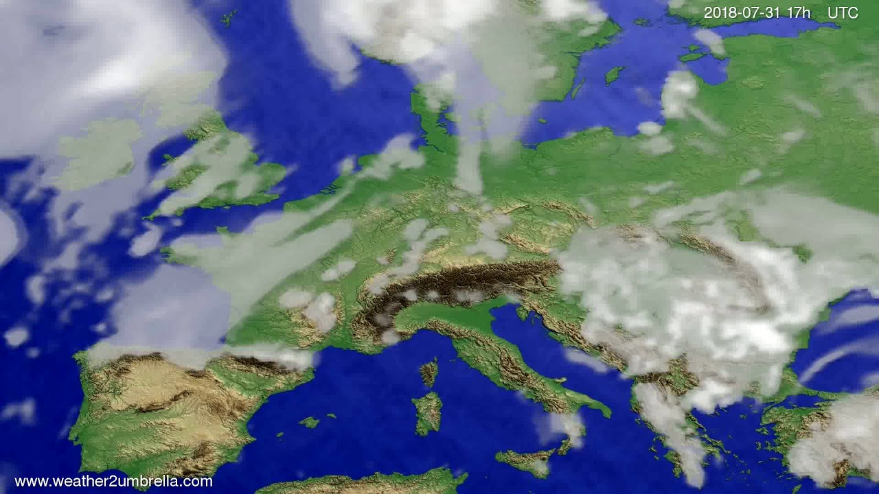 Cloud forecast Europe 2018-07-29