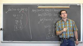 Solving Equations With Logarithms Pt 3