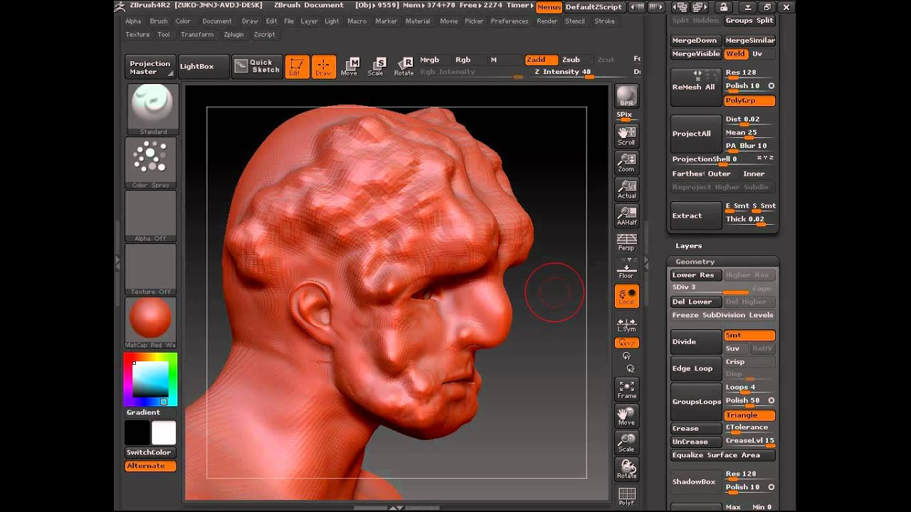 how to make zbrush default brush
