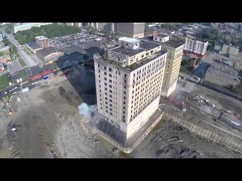WATCH:  Drone Catches Building Demolition