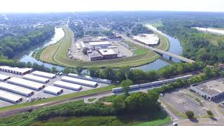 TURN ON HD 1080. This is a practice run on the DJI Phantom 3 at Miami Valley Centre Mall. Looks cool and caught a train.