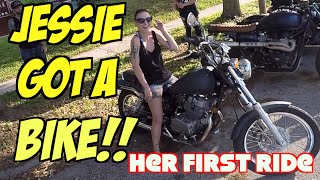 5. Honda Rebel: A Girl's First Motorcycle, First Ride