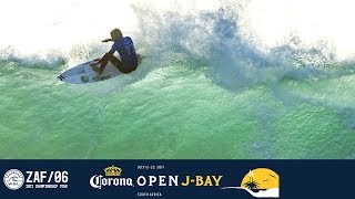The continuation of Jordy Smith, Filipe Toledo and Julian Wilson's battle in Round Four, Heat 3 at the 2017 Corona Open J-Bay.