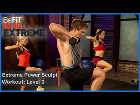befit - Extreme Power Sculpt Workout   Level 3 from BeFit in 30 Extreme is a high-intensity circuit workout that combines cardio, plyometric, and strength exercises ...