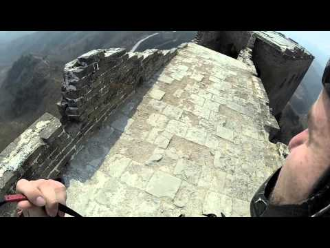 A Guy Parachutes Off The Great Wall Of China (VIDEO)