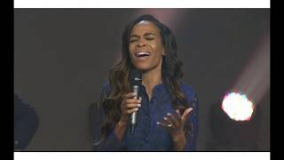 Michelle Williams from Destiny's Child and Israel Houghton at Relentless Church