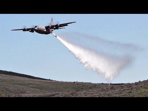 Several Air Force C-130 aircraft...