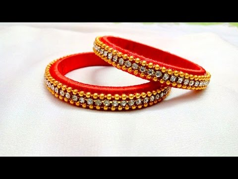 Video Making easy silk thread bangles I DIY silk thread bangles I How to make I Creative Diaries download in MP3, 3GP, MP4, WEBM, AVI, FLV January 2017