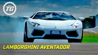 With a top speed of 217mph, 694 horsepower, 6.5 litre engine and first all new V12, Richard takes to the track and puts the brand new Lamborghini Aventador ...