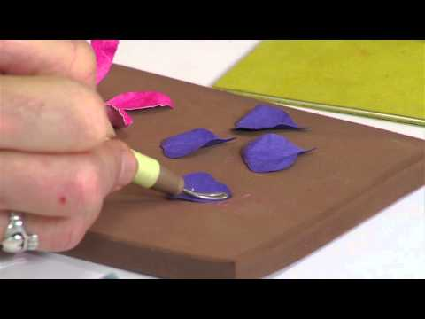 Designing in Susan's Garden with Sizzix Thinlits Fuchsia Flower Set