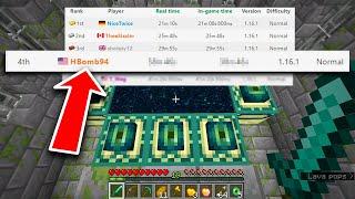 i set the #3 record on Minecraft 1.16 speedruns..