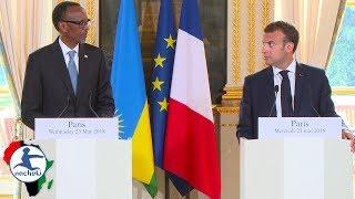 Rwanda President Boldly Educates French President  in Press Confess