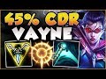 UHH RIOT 45% CDR VAYNE ONLY HAS 1 SEC CD ON Q?? VAYNE SEASON 8 TOP GAMEPLAY! - League of Legends