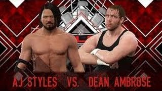 WWE 2K17 TLC 2016 AJ STYLES VS DEAN AMBROSE AWESOME MATCH HIGHLIGHTS