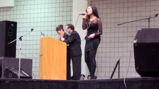 Savina Xiong Singing at River Centre Hmong New Year 2012-2013