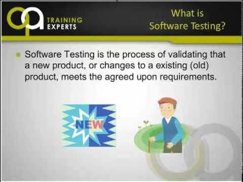 qa testing - This is video 1 of 3 that covers QA Methodology Training Part 1 What is Software Testing by George Bryan @ QA Training Experts. QA Training Experts teaches p...