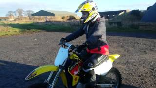 8. Suzuki RM 85 Jade's first time on a 2 stroke