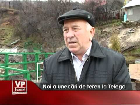 Noi alunecări de teren la Telega