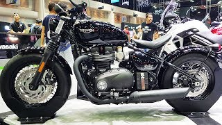 7. ALL NEW TRIUMPH BONNEVILLE BOBBER BLACK 1200 cc.