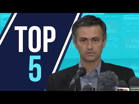 Top 5 | Jose Mourinho Chelsea Media Moments (видео)
