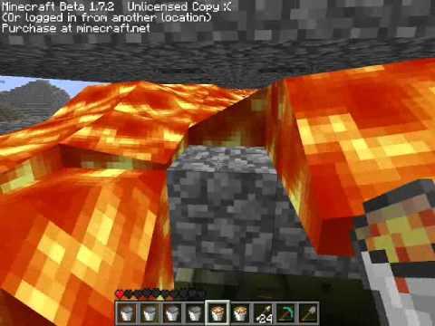 Minecraft buildung a Magma Bunker!!! part 1 (видео)