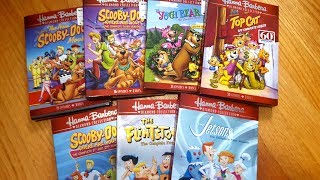 Here is an unboxing of seven of the Hanna Barbara Diamond Collection TV series season sets. Unfortunately, while these are awesome reissues, they have stacked discs and have omitted the bonus features. Still, they are nice releases for those who do not have these sets yet. In this video I open up Scooby-Doo Where Are You! Seasons 1-2, Scooby-Doo Where Are You! Season 3, The Best of the New Scooby-Doo Movies, The Yogi Bear Show Complete Series, Top Cat Complete Series, The Flintstones Season 1, and The Jetsons Season 1.