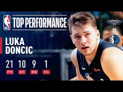Video: Luka Doncic Records a Near TRIPLE-DOUBLE Vs. New Orleans | December 26, 2018
