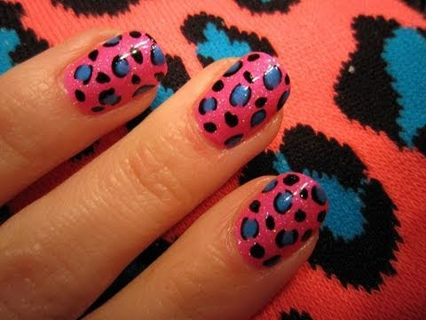 Lisa Frank Inspired Leopard Nail Tutorial