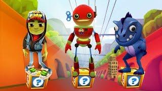 Subway Surfers Gameplay - Tagbot vs Zombie Jake vs Dino/ Cartoons Mee