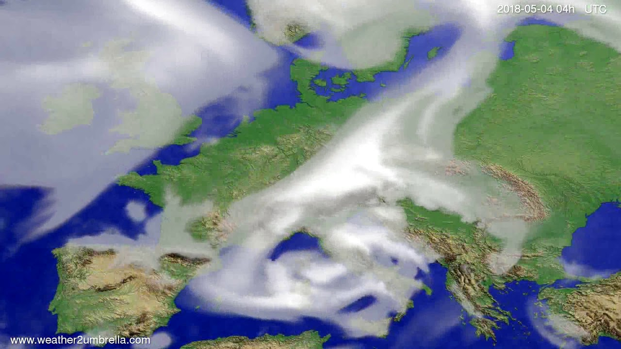 Cloud forecast Europe 2018-04-30