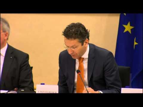 Παρέμβάση Ντέισελμπλουμ για την Ελλάδα στην Επιτροπή Οικονομικών και Νομισματικών της Ευρωβουλής
