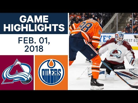 Video: NHL Game Highlights | Avalanche vs. Oilers – Feb. 1, 2018