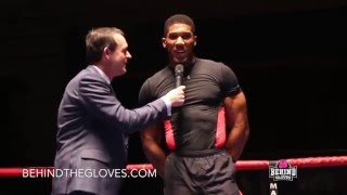 "Anthony Joshua to Charles Martin: ""Chat Sh*t, Get Banged"""