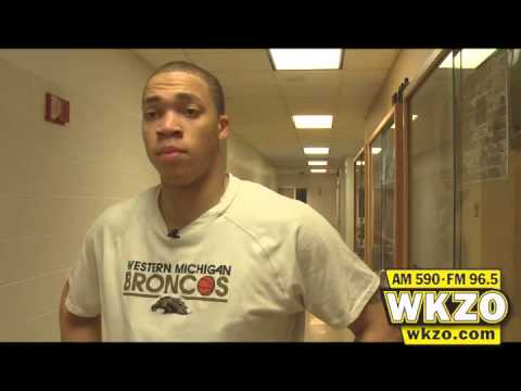 WMU Junior Guard David Brown talks with Carolyn Binder about playing after 7 days off, winning the final Bracketbuster game, and moving through the rest of the MAC schedule 