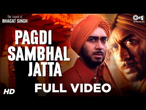 pagdi sambhal jatta patriotic song with Hindi lyrics