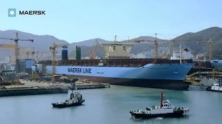 Maersk - Triple-E: Semi-launch timelapse