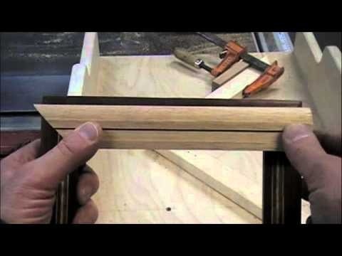 making picture frames - Watch the woodworking YouTube video of how to make picture frames on a table saw miter sled. Learn how to use this cross cut sled to make picture perfect mit...