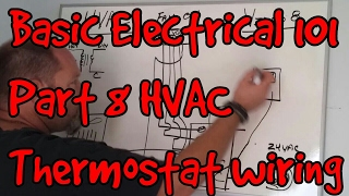 Video BASIC ELECTRICAL 101 #08 ~ HVAC Thermostat wiring and troubleshooting MP3, 3GP, MP4, WEBM, AVI, FLV Juli 2018