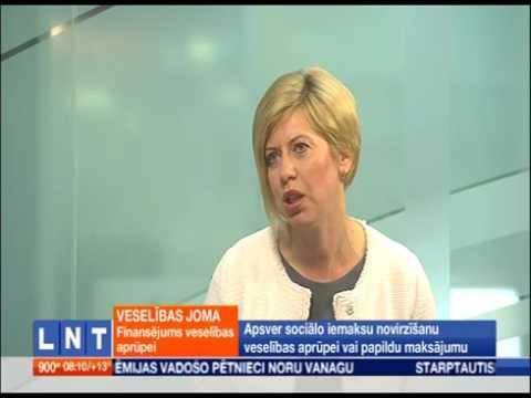 """Veselības ministre Anda Čakša LNT raidījumā """"900 sekundes"""""""