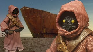 This is a review of the Star Wars: 40th Anniversary: The Black Series: Jawa 6 Inch action figure made by Hasbro.