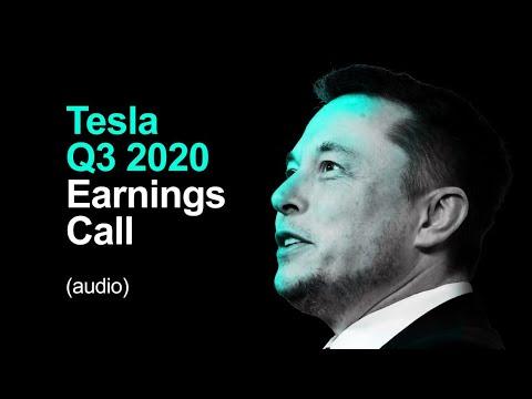 🔴 Tesla Q3 2020 Earnings Call (audio)