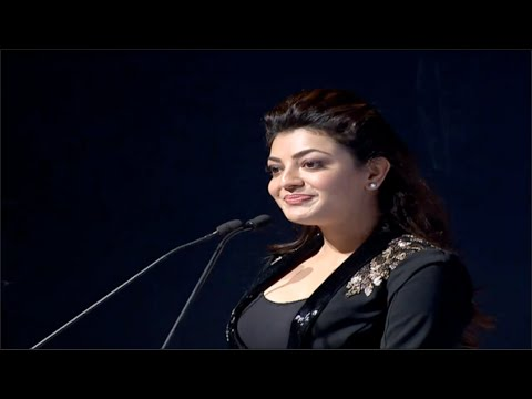 Kajal Aggarwal Cute Speech  CCL5 100 Hearts Red Carpet