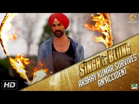 Akshay Kumar Survives A Fatal Accident | Singh Is Bliing Making Videoi