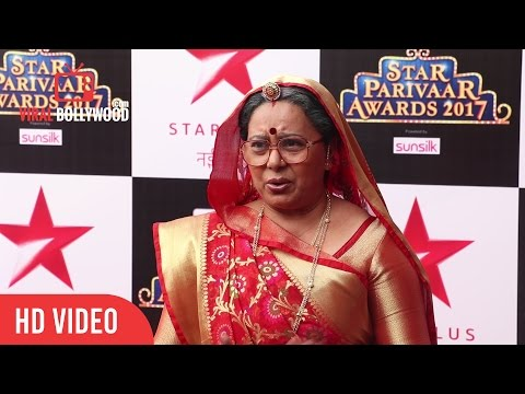 Neelu Vaghela At Star Parivaar Awards 2017 | Viralbollywood (видео)